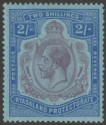 Nyasaland 1926 KGV 2sh Purple and Blue on Pale Blue Mint SG109
