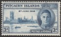 Pitcairn Islands 1946 KGVI Victory 3d blue with Flagstaff Flaw Mint SG10a