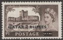 Qatar 1957 QEII Castle 2r on 2sh6d Type II Mint SG13a