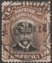 Rhodesia 1913 KGV Admiral 2sh Black and Brown Die I p15 Used SG218