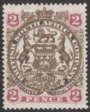 Rhodesia 1897 BSAC Large Arms 2d Brown and Mauve Mint SG68