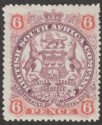 Rhodesia 1897 QV BSAC Large Arms 6d Dull Purple and Pink Mint SG71