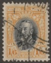 Southern Rhodesia 1936 KGV Field Marshal 1sh6d Black and Yellow p11½ Used SG24a