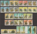 South West Africa 1973 Succulents Set of 17 Imperf Pairs Mint SG241-256 var