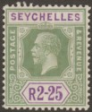 Seychelles 1921 KGV 2r25c Yellow-Green and Violet Mint SG122