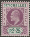 Seychelles 1903 KEVII 2r25c Purple and Green Mint SG56