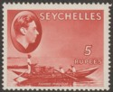 Seychelles 1938 KGVI Pirogue 5r Red Chalky Mint SG149