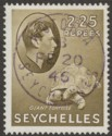 Seychelles 1942 KGVI Tortoise 2r25c Olive Used SG148a