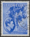 Seychelles 1938 KGVI Palm Tree 1r50c Ultramarine Chalky Used SG147