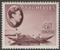 Seychelles 1938 KGVI Pirogue 45c Chocolate Chalky Mint SG143