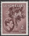 Seychelles 1949 KGVI Palm Tree 2c Brown Chalky Mint SG135