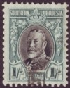 Southern Rhodesia 1935 KGV Field Marshal 1sh Black + Green Blue p11½ Used SG23a