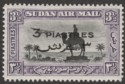 Sudan 1938 KGVI Air Overprint 3p on 3½p Black and Violet perf 14 Mint SG75