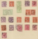 Victoria 1886-1901 QV Selection Used with various TPO Postmarks Australia