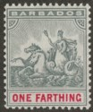 Barbados 1905 KEVII Seal of Colony ¼d Slate-Grey and Carmine Mint SG135