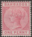 Barbados 1882 QV 1d Rose Mint SG91
