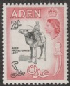 Aden 1965 QEII 2sh Black and Carmine-Rose Mint SG86