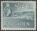 Aden 1962 QEII 15c Greenish Slate Mint SG53b