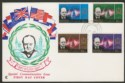 Aden South Arabian Federation 1966 Churchill Set Used on Illust First Day Cover