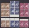 Australia 1965 QEII 50th Anniv Gallipoli Landing Block/Pairs Sets Mint SG373-375