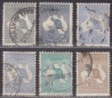 Australia 1915 KGV Roo wmk Pointed Crown Part Set to 2sh Used