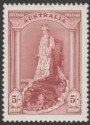 Australia 1937 KGVI Robes 5sh Claret on Chalky Paper Mint SG176