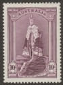 Australia 1937 KGVI Robes 10sh Dull Purple on Chalky Paper Mint SG177