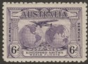 Australia 1931 KGV Kingsford Smith's Flights 6d Violet with Re-entry Mint SG123a