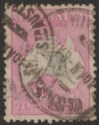 Australia 1918 KGV Roo 10sh Grey + Bright Aniline Pink Used SG43a cat £325