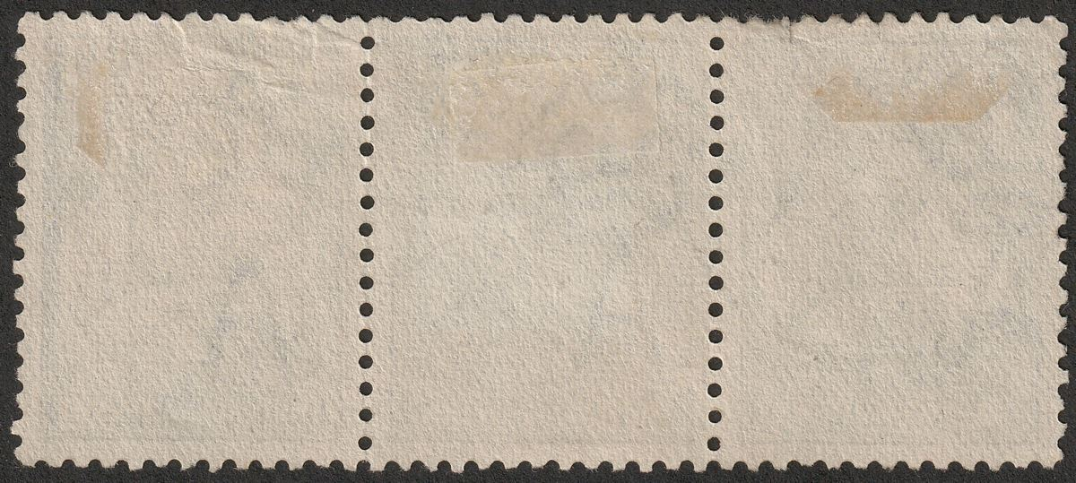 Australia 1915 KGV Roo 2½d Indigo wmk Pointed Crown strip of 3 Used SG25 cat £96