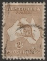Australia 1915 KGV Roo 2sh Brown wmk Pointed Crown Used SG29 cat £150