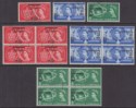 Bahrain 1957 QEII World Scout Jubilee Surcharge Block Set Used SG113-115