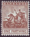 Barbados 1909 KEVII Seal of Colony ¼d Brown Mint SG163