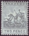 Barbados 1910 KEVII Seal of Colony 2d Greyish Slate Mint SG166