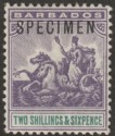 Barbados 1903 Seal of Colony 2sh6d Violet and Green SPECIMEN SG115s