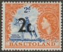 Basutoland 1961 QEII 2c Surcharge Type 24 on 2d Mint SG footnote