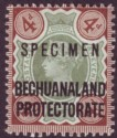 Bechuanaland 1897 QV 4d Green and Purple-Brown Mint SPECIMEN SG64s