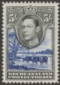 Bechuanaland Protectorate 1946 KGVI 5sh Grey-Black + Dp Ultramarine Mint SG127a