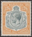 Bermuda 1932 KGV 12sh6d Grey and Orange Mint SG93