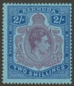 Bermuda 1943 KGVI 2sh Purple + Blue p14 Shading Omitted from Scroll Mint SG116db