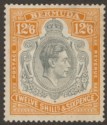 Bermuda 1938 KGVI 12sh6d Deep Grey and Brownish Orange p14 Mint SG120