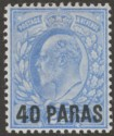 British Levant 1902 KEVII 40pa on 2½d Pale Ultramarine Mint SG8a