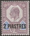 British Levant 1905 KEVII 2pi on 5d Dull Purple + Ultramarine Mint SG14