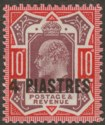 British Levant 1912 KEVII 4pi on 10d Dull Purple and Scarlet Mint SG31