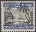 Cook Islands 1932 KGV 2½d Black and Deep Blue perf 13 Mint SG102