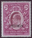 East Africa & Uganda 1903 KEVII 2r Dull and Bright Purple Specimen SG10s