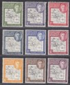Falkland Islands Dependencies 1946-49 KGVI Thick Map / Thin Map Selection Mint