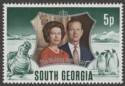 South Georgia 1972 Silver Wedding 5p watermark Inverted Mint SG36w