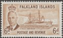 Falkland Islands 1952 KGVI John Biscoe 6d Bistre-Brown Mint SG178