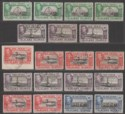 Falkland Islands 1938-50 KGVI Set to 4d with Shades Used SG146-154